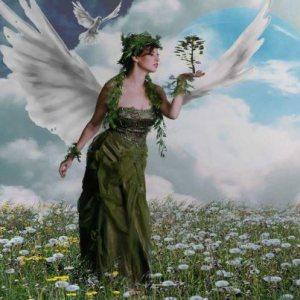 angel and tree